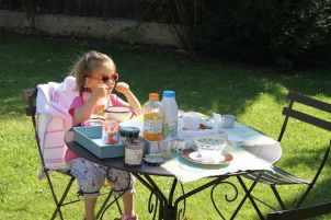 petit déjeuner dehors